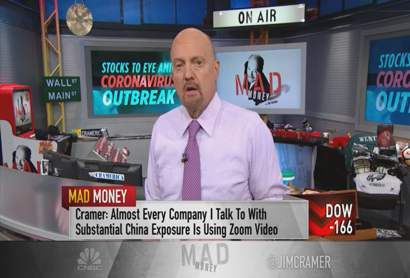 Some companies are benefiting from the coronavirus outbreak, Jim Cramer says