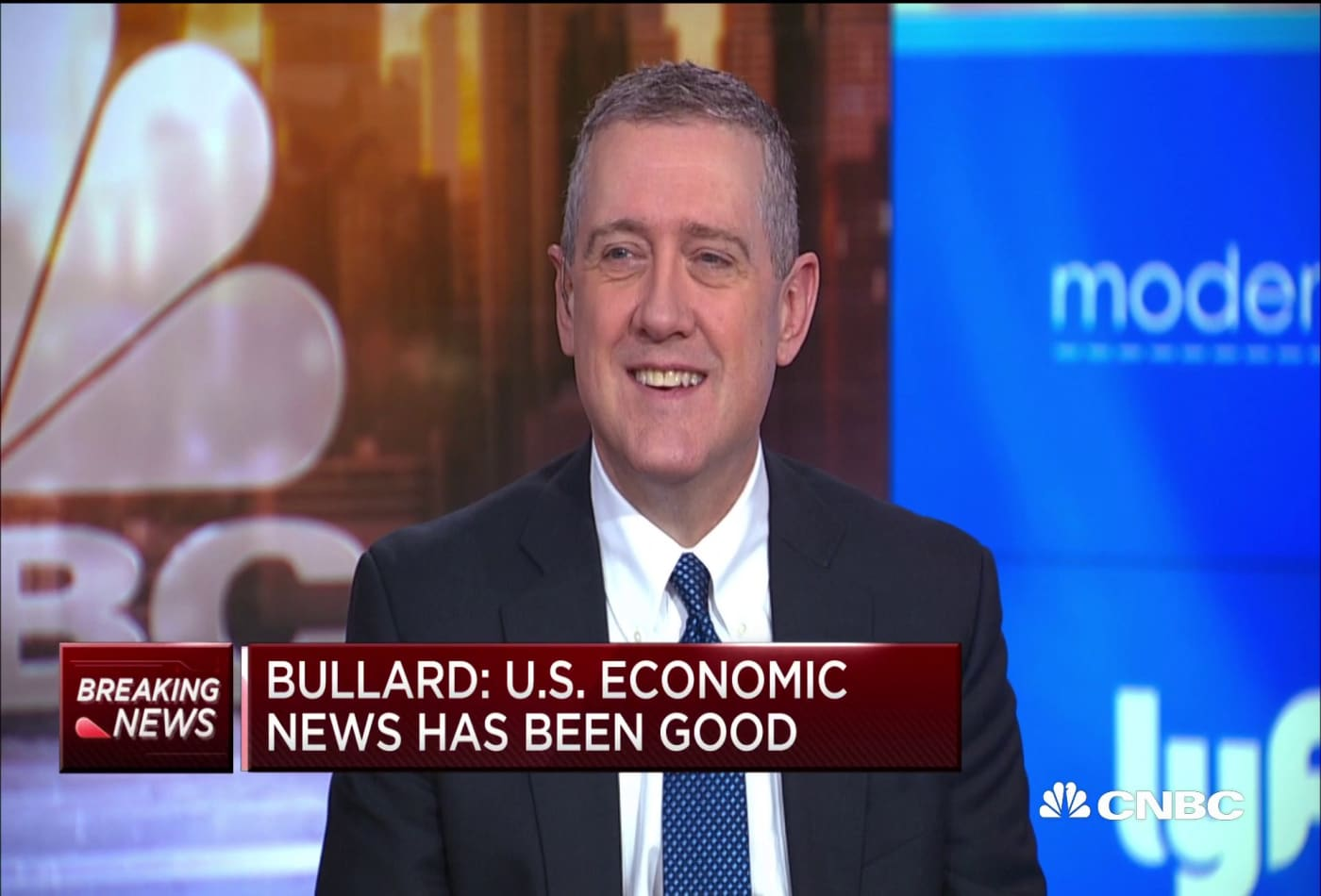 Fed's Bullard: 'Wall Street likes divided government'