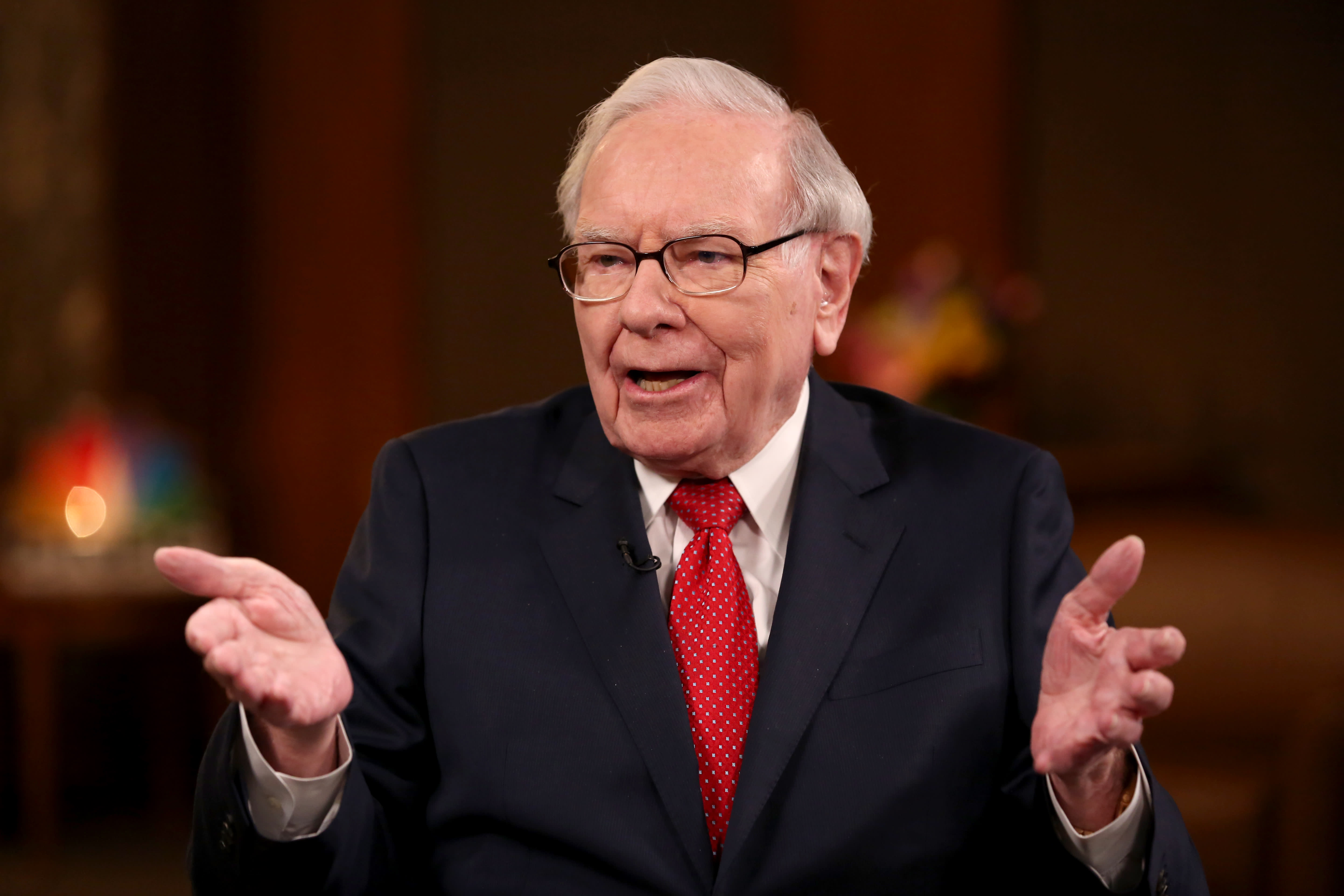 Warren Buffett doesn't make money by predicting 'what's going to go on next week or next month'