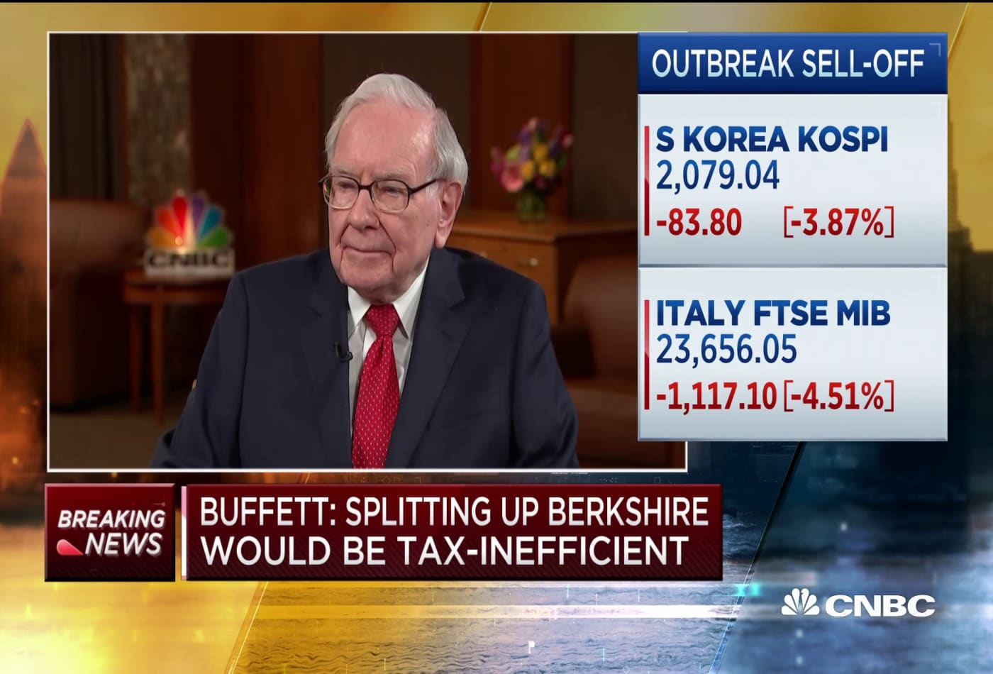 Warren Buffett: There would not be a profit if Berkshire were split up