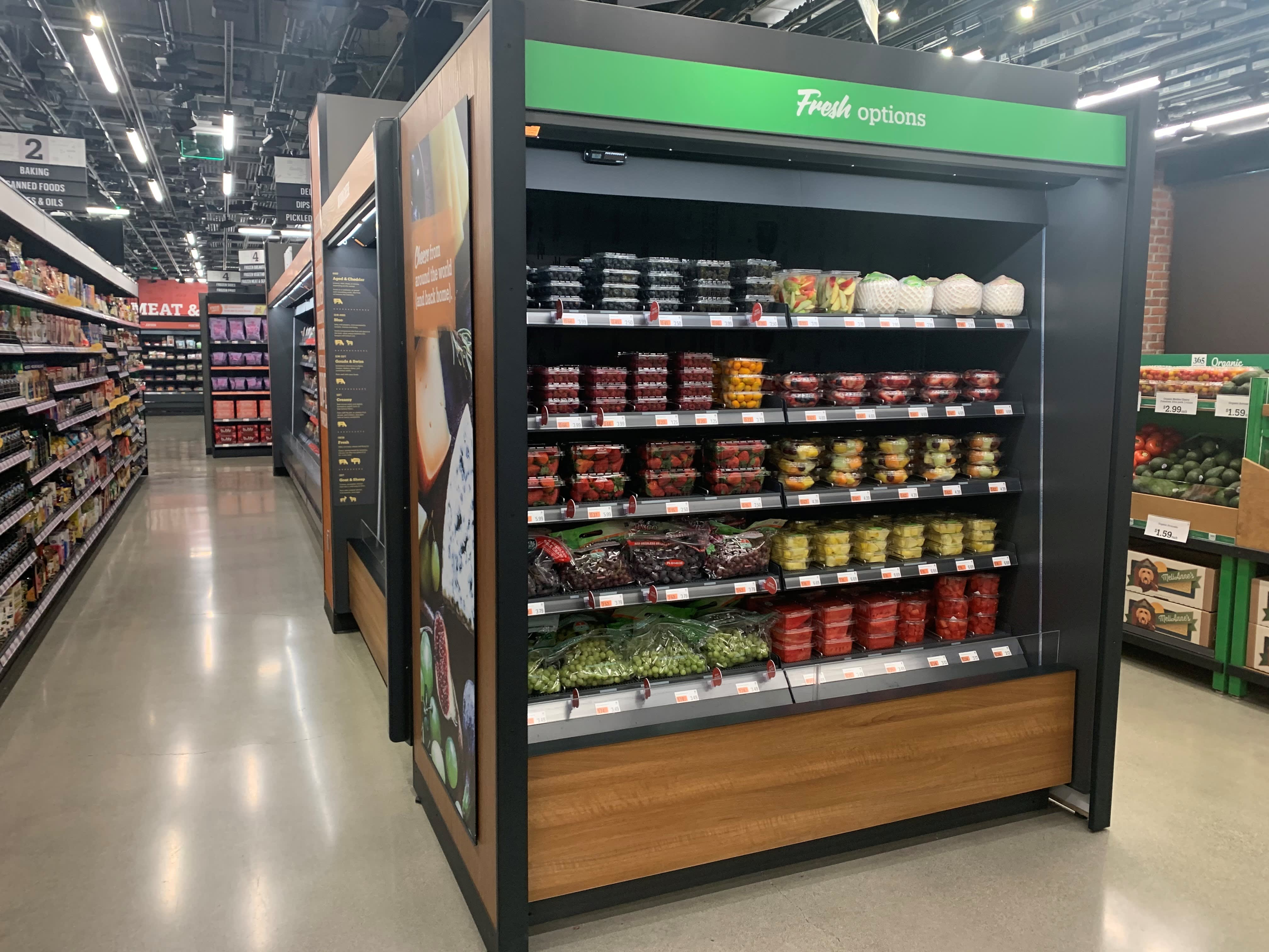 Amazon is opening its first full-size, cashierless grocery store. Here's a first look inside