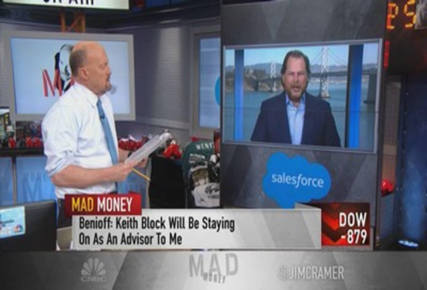 Salesforce's Marc Benioff talks Q4 earnings, Keith Block's departure