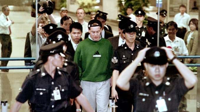 GP: Rogue trader Nick Leeson arrives in Singapore, Feb 1995 200226