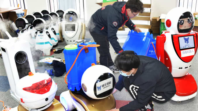 GP: China Robots coronavirus