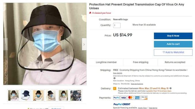 CNBC Tech | eBay coronavirus hat