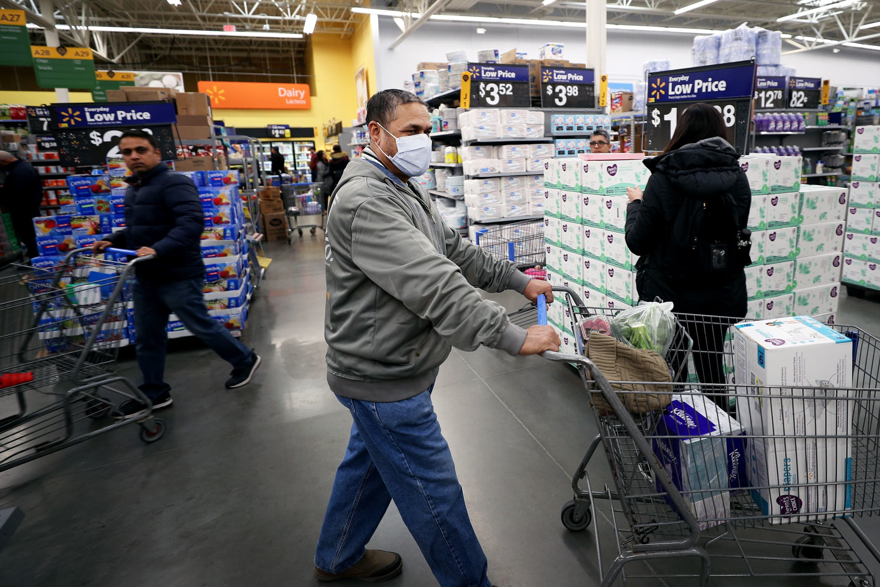 Walmart and others cope with sick workers, fearful customers