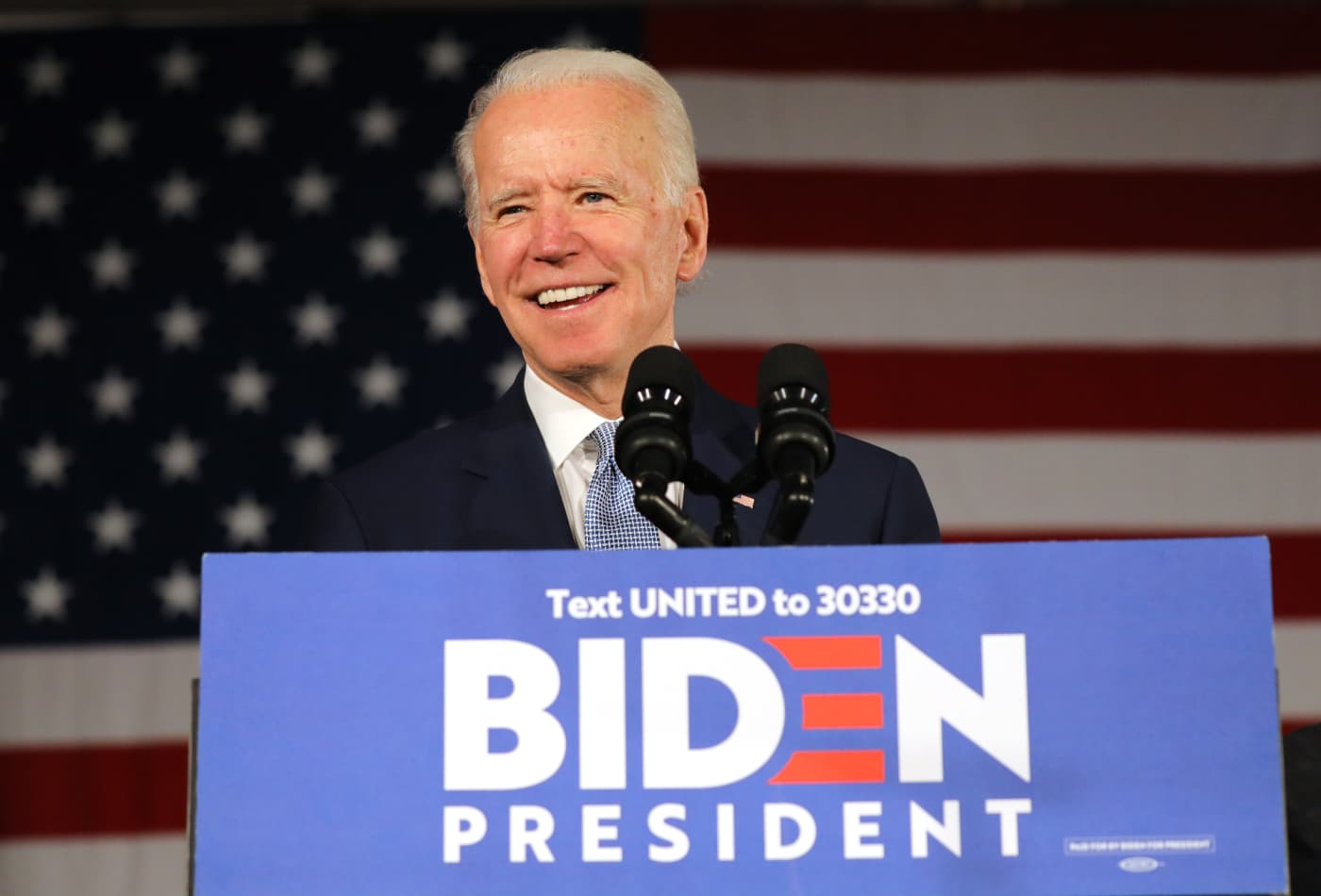 Joe Biden is the apparent winner of the Washington Democratic primary, NBC News reports