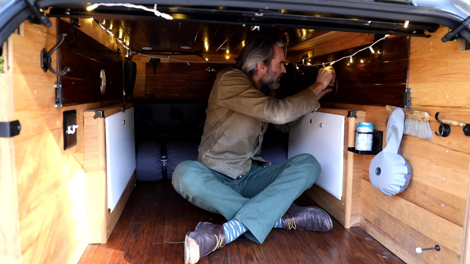 Dishongh designed and installed every part of the camper himself.