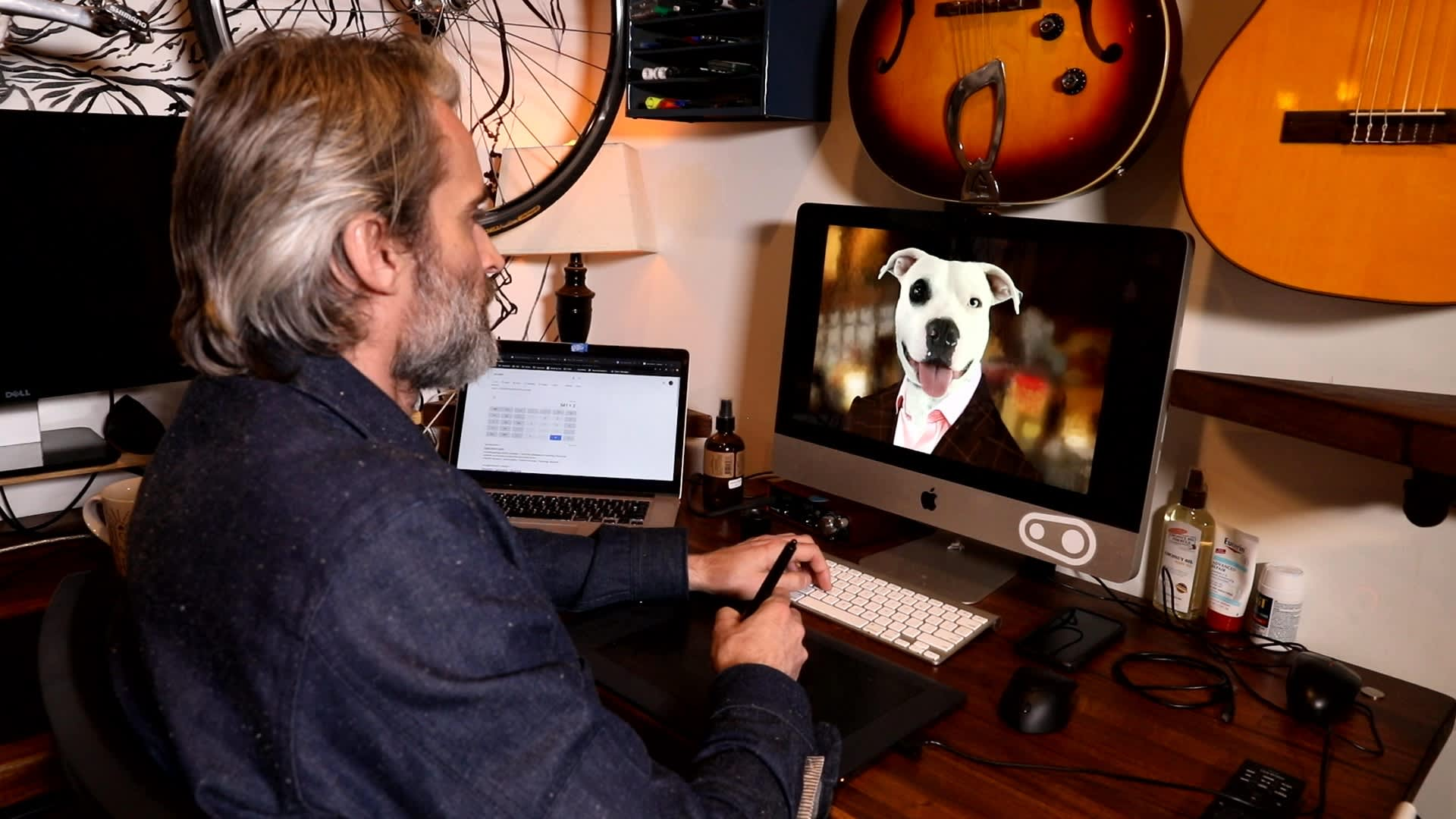 As a side business, Dishongh designs pet portraits.