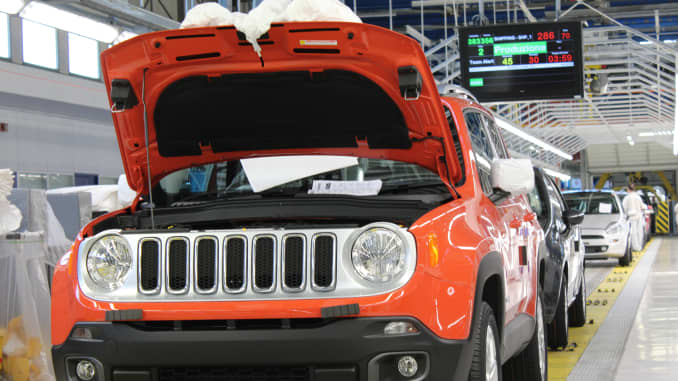 Jeep Renegade at Melfi plant