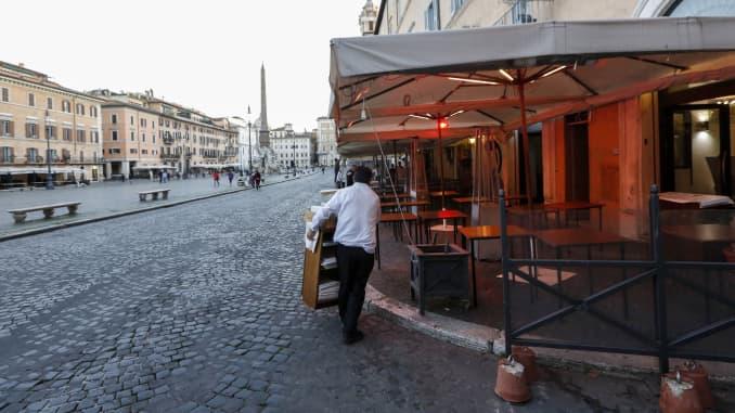 GP: Coronavirus Rome Italy shutdown Precautions against coronavirus in Italy