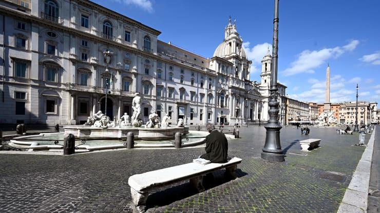 GP: Coronavirus Rome Piazza Navona ITALY-HEALTH-VIRUS