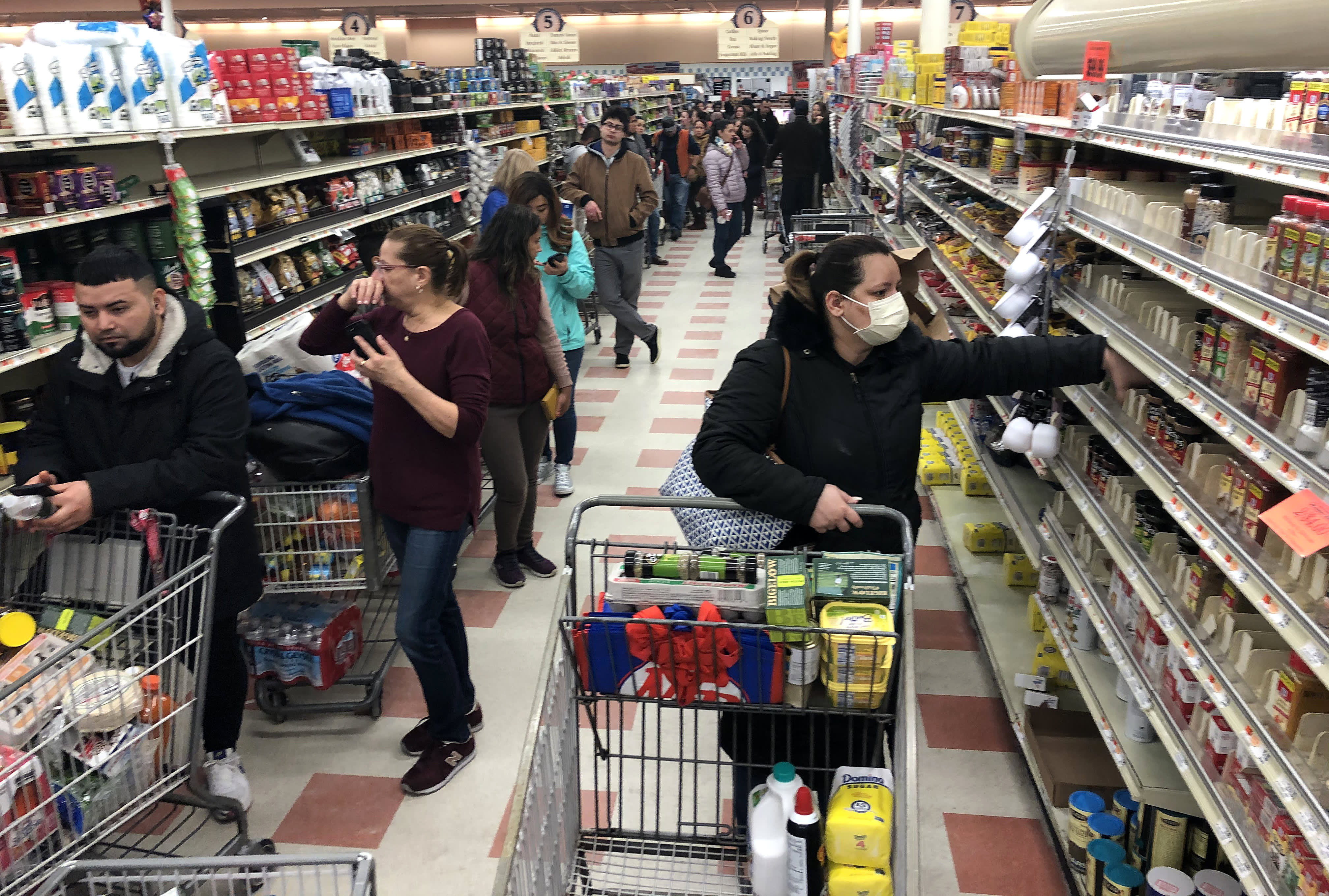 Image result for grocery stores panic buy