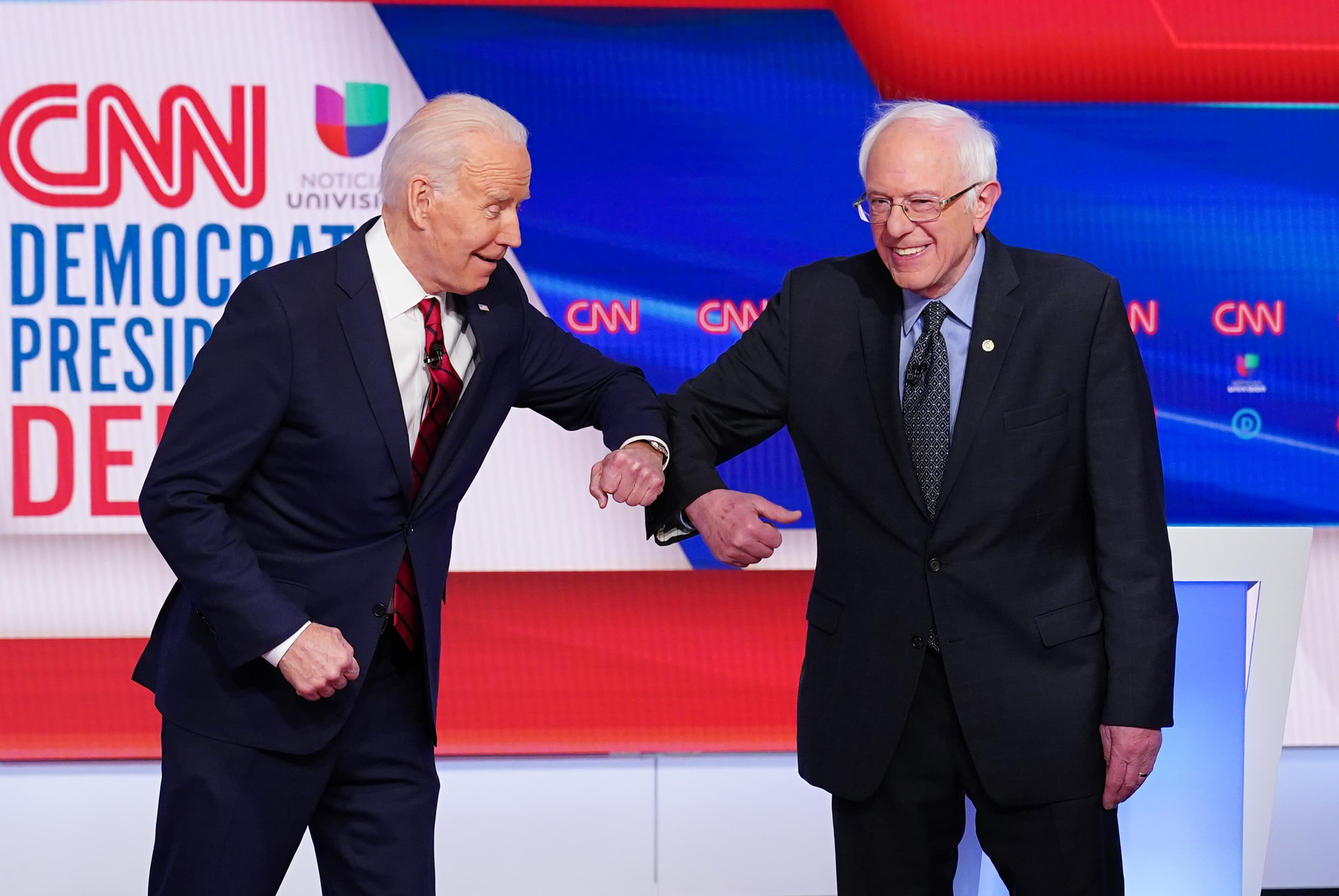 Democratic debate: Biden and Sanders face off as coronavirus ...