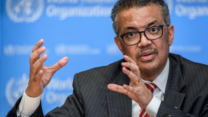 GP: World Health Organization (WHO) Director-General Tedros Adhanom Ghebreyesus