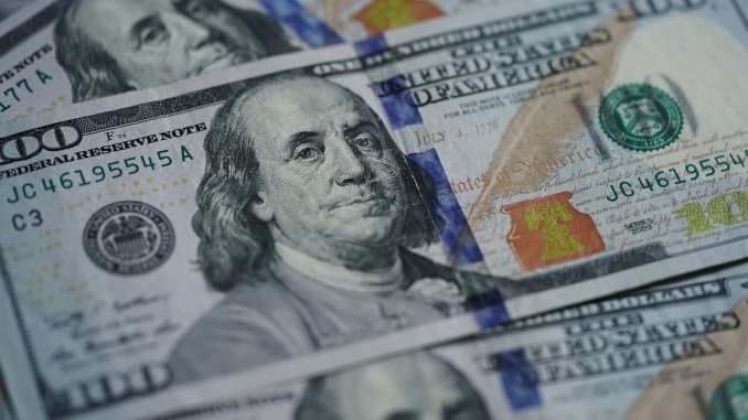 U.S. dollar banknotes.