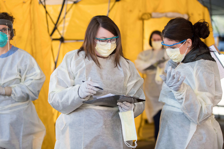 Hospitals set up coronavirus tents, seek emergency credit and $100 billion in US aid