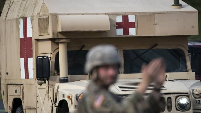 Trump activates National Guard in California, New York and Washington state: 'This is a war' 106454522-1584735656475gettyimages-1207672030