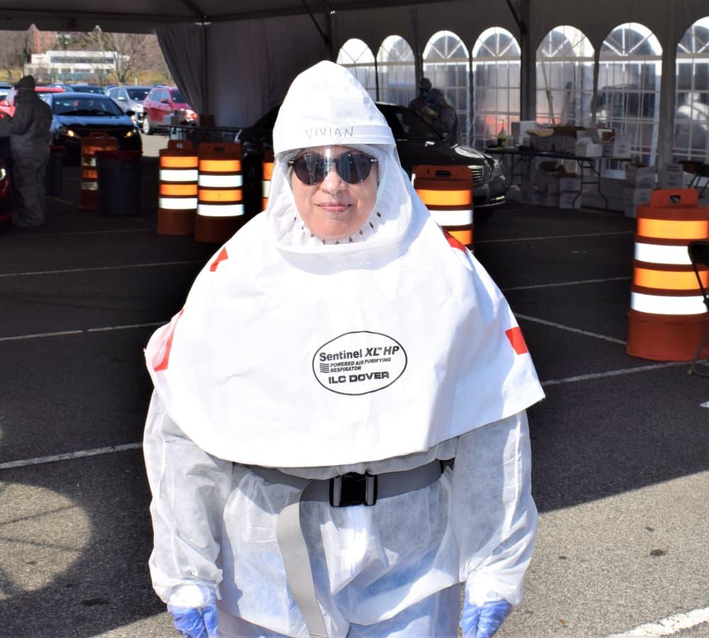 I work at a coronavirus drive-thru testing site in New York. Here's what a 12-hour shift looks like