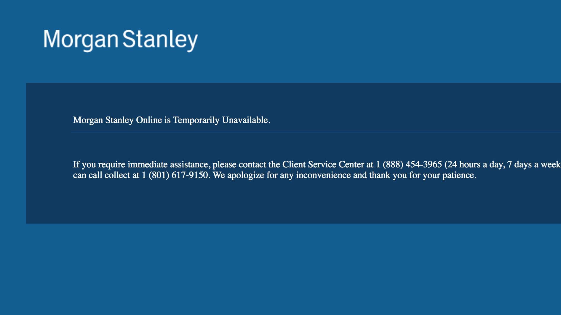 morgan stanley clientserv app