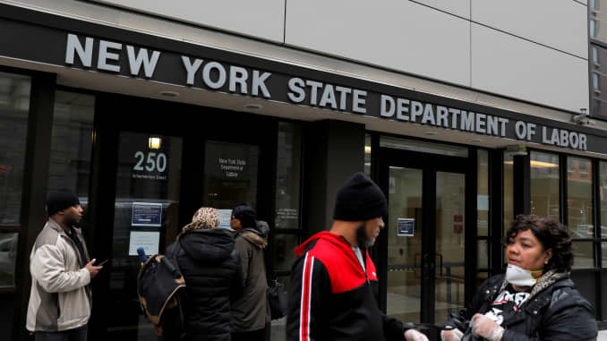 RT: New York State unemployment, dept of labor