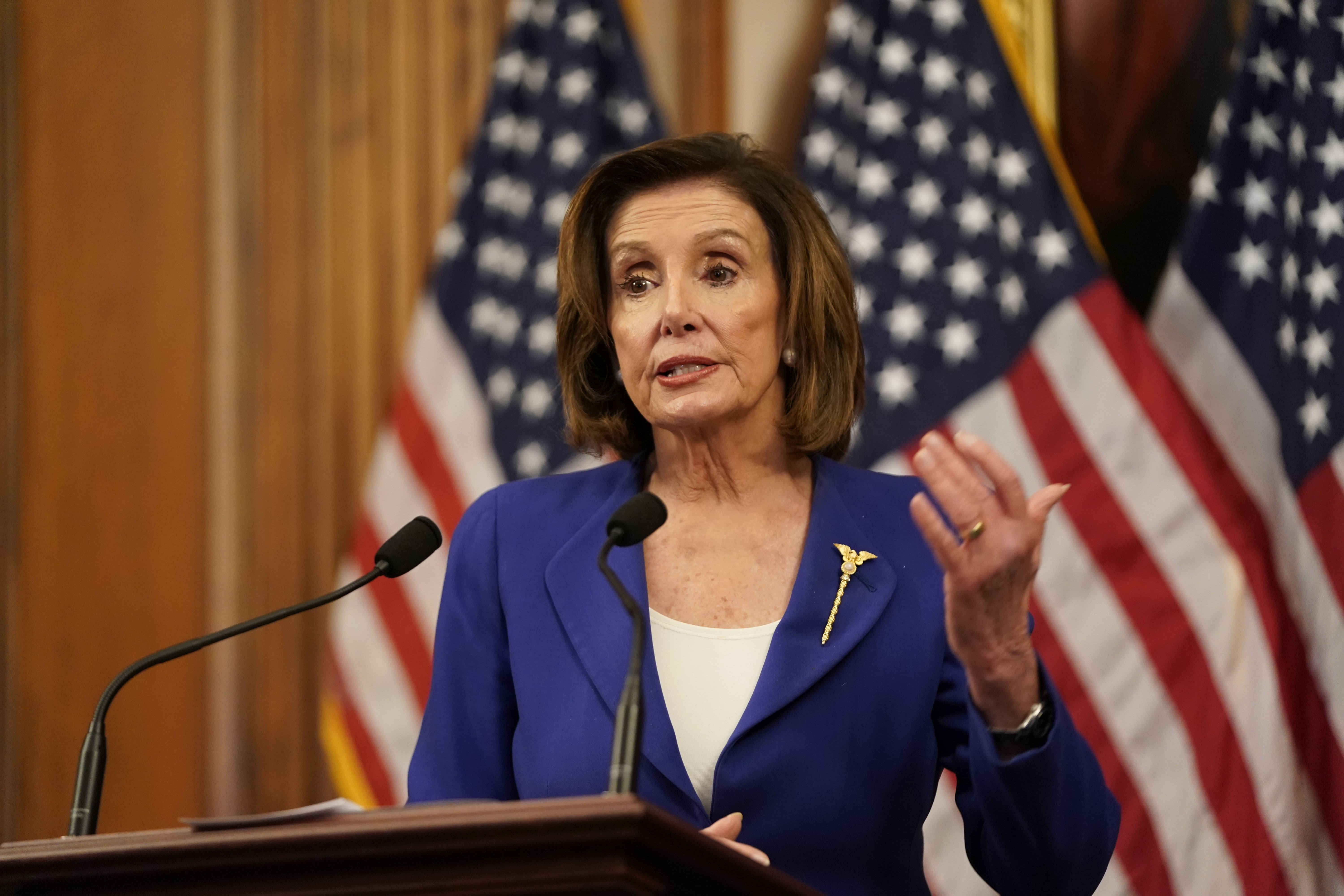 House Speaker Nancy Pelosi says the country must move toward vote by mail, setting up a fight with Trump