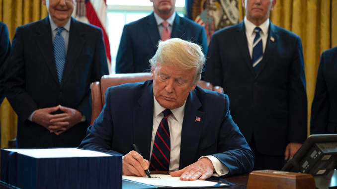 GP: Donald Trump signing bill 200327