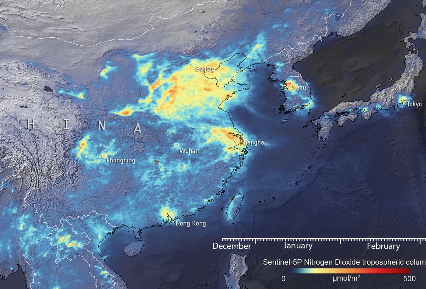 Coronavirus quarantines lead to massive drop in air pollution