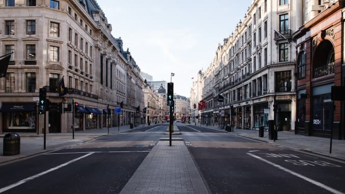 GP: Coronavirus Pandemic In London Empty streets