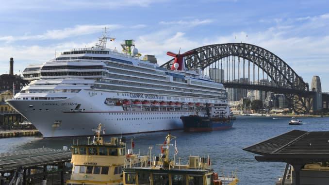 GP: Coronavirus Carnival Cruise lines Spendor Sydney AUS 200322
