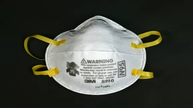 GP: Product shot of an N95 mask