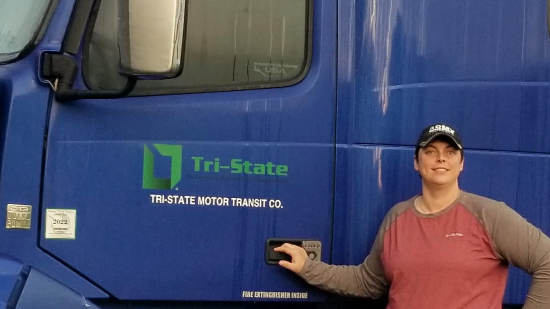 Truck driver Tina Copeland