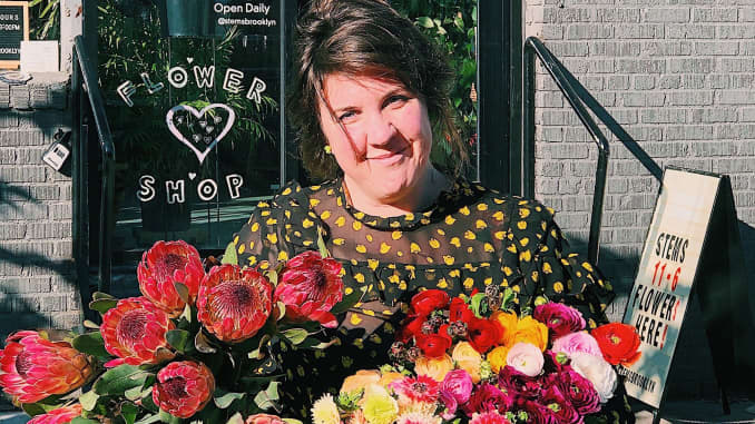 H/O: Suzanna Cameron, owner of Stems flower shop