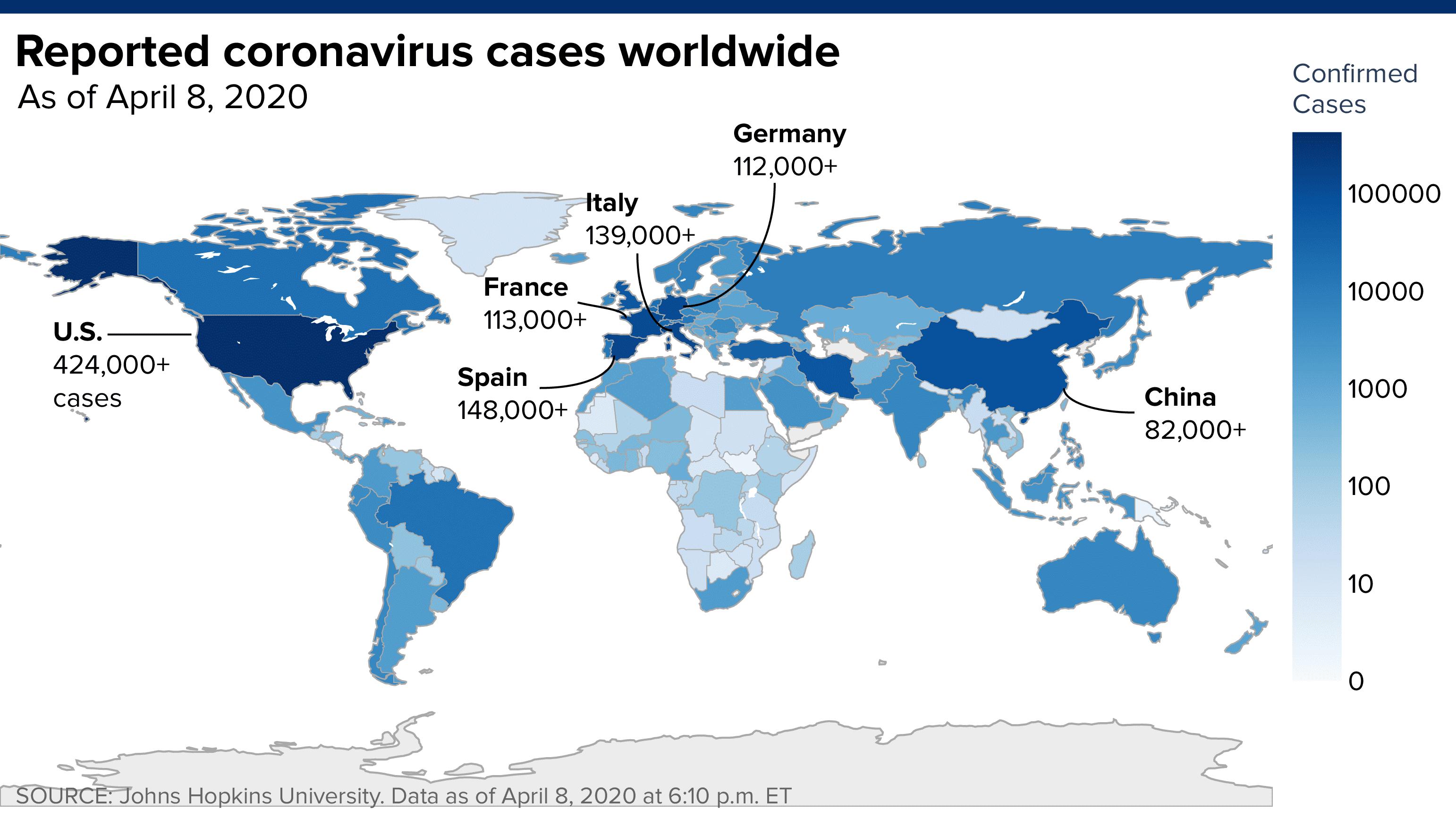 Coronavirus Live Updates Global Cases Cross 1 5 Million