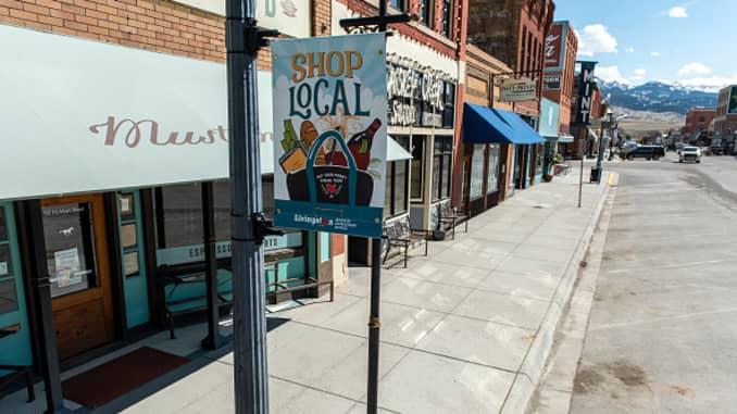 GP: Coronavirus empty town small business 200410