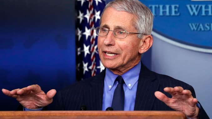Dr. Anthony Fauci says Americans who don't wear masks may ...