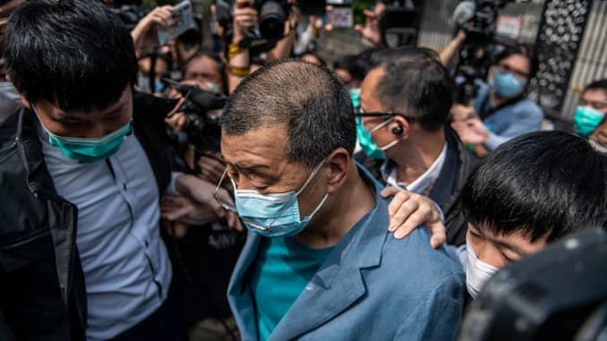 GP 200419 Hong Kong Police Arrest Jimmy Lai