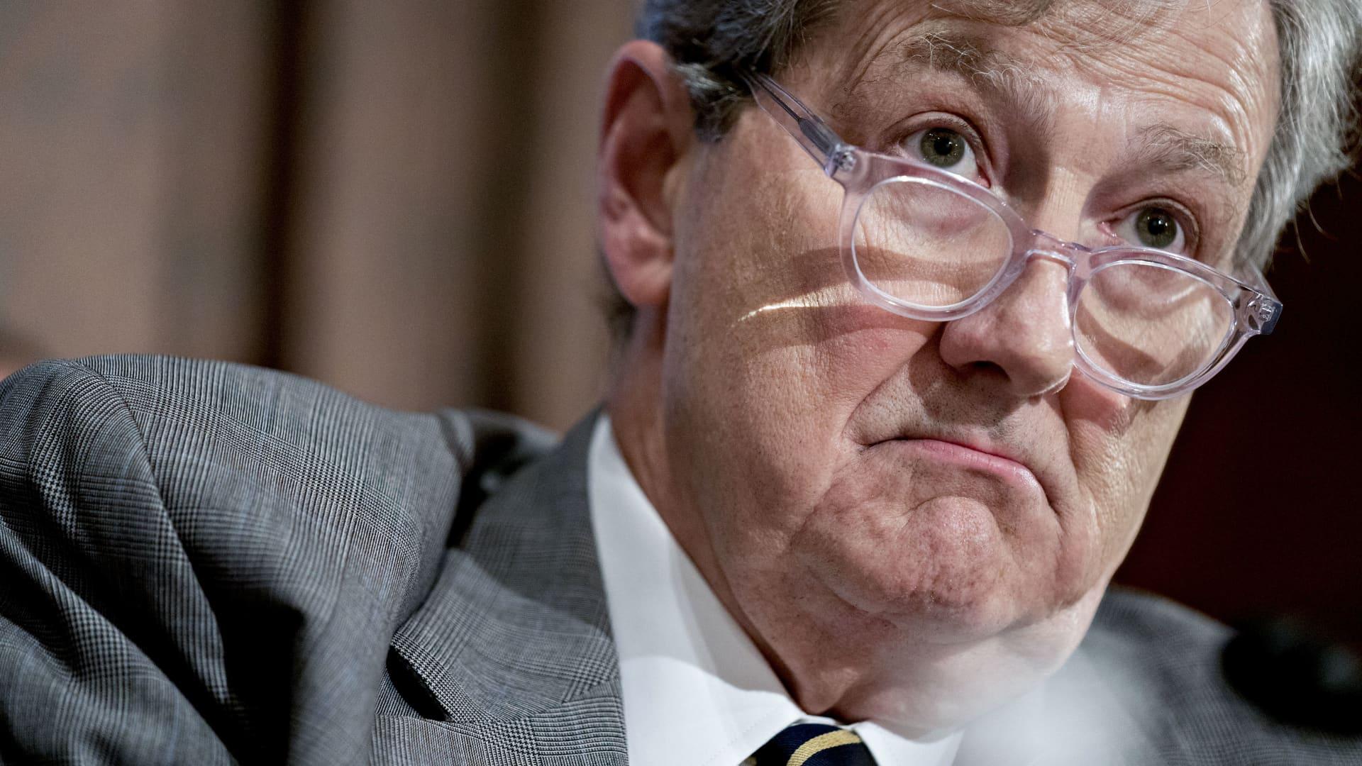 Senator John Kennedy, a Republican from Louisiana.