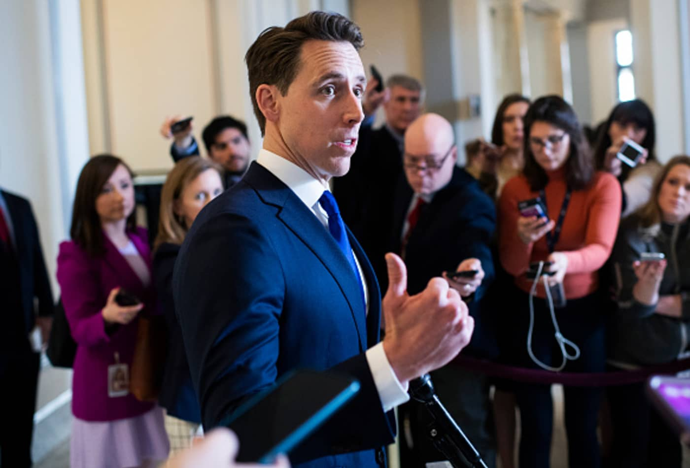 GOP Sen. Josh Hawley asks Twitter if fact checks are meant to target Trump for 'political reasons'