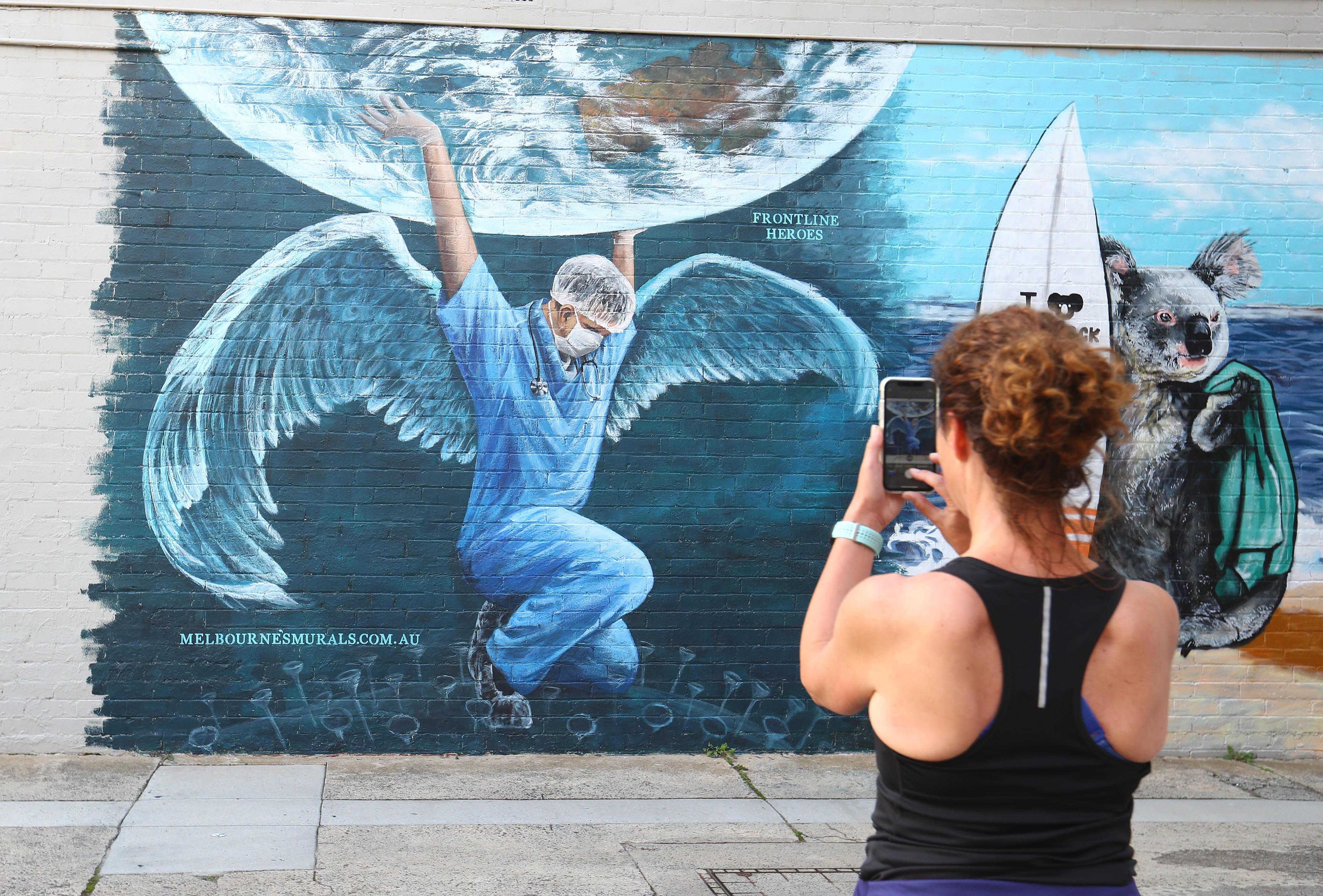 Coronavirus Themed Murals Continue To Pop Up Around The World