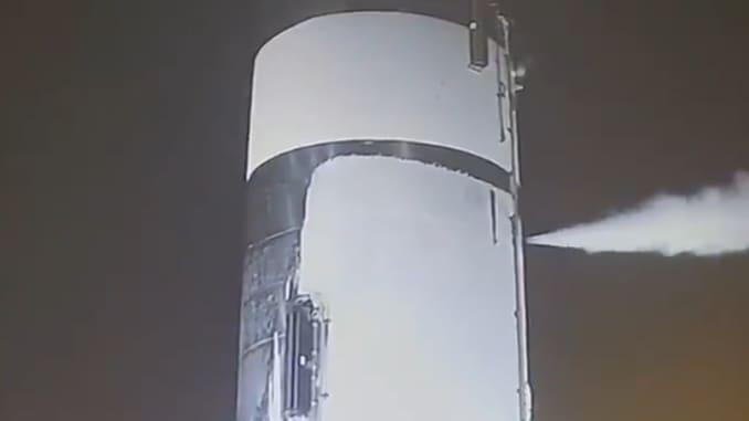 H/O: Screenshot of SpaceX Starship cryo test 200427 EC