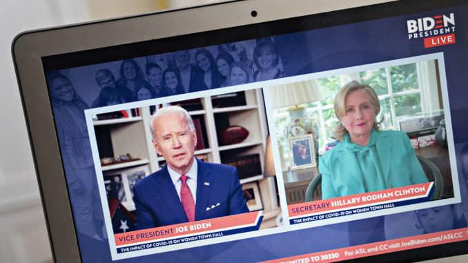 GP: Joe Biden detém prefeitura virtual sobre o impacto do Covid-19 nas mulheres