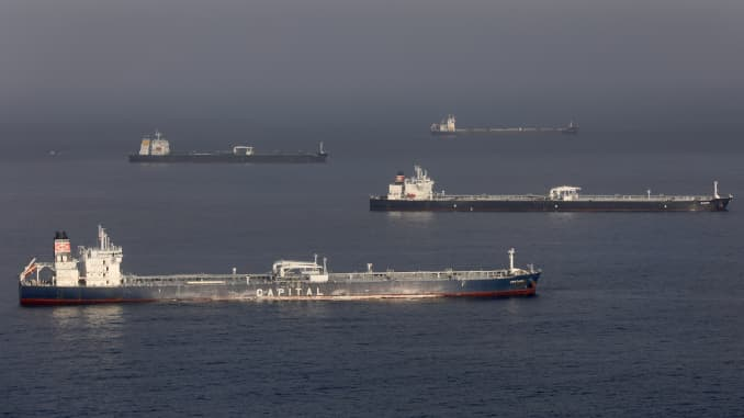 GP: Dozens Of Oil Tankers Sit Off The California Coast As Demand For Crude Plummets During Pandemic - 106511787