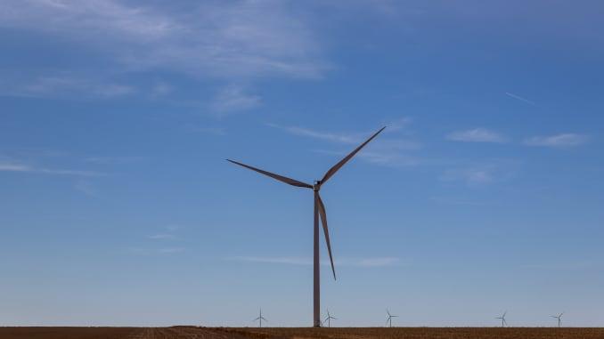 Wind turbines in Texas, U.S.A.