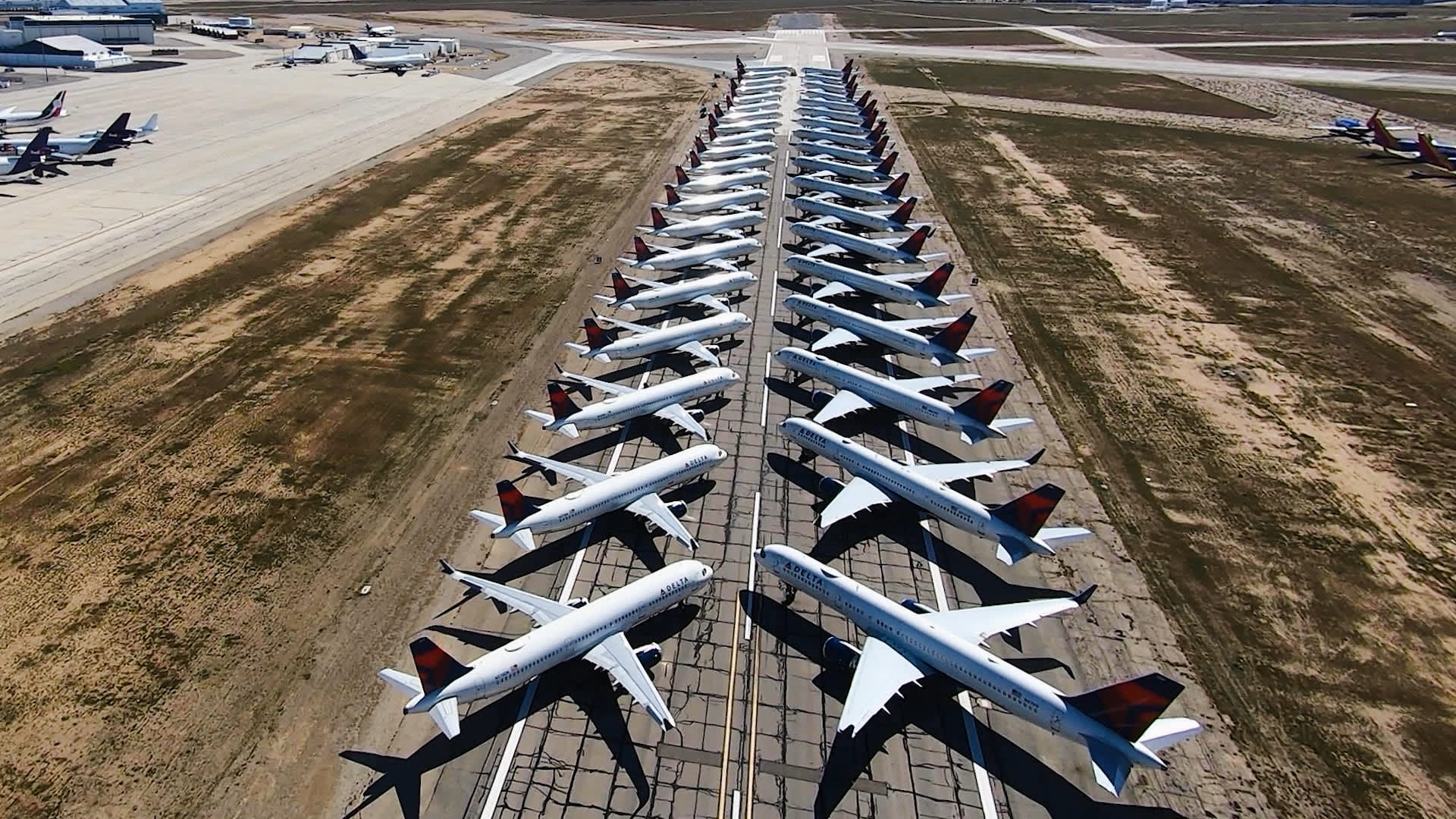 How airlines park thousands of grounded planes amid coronavirus