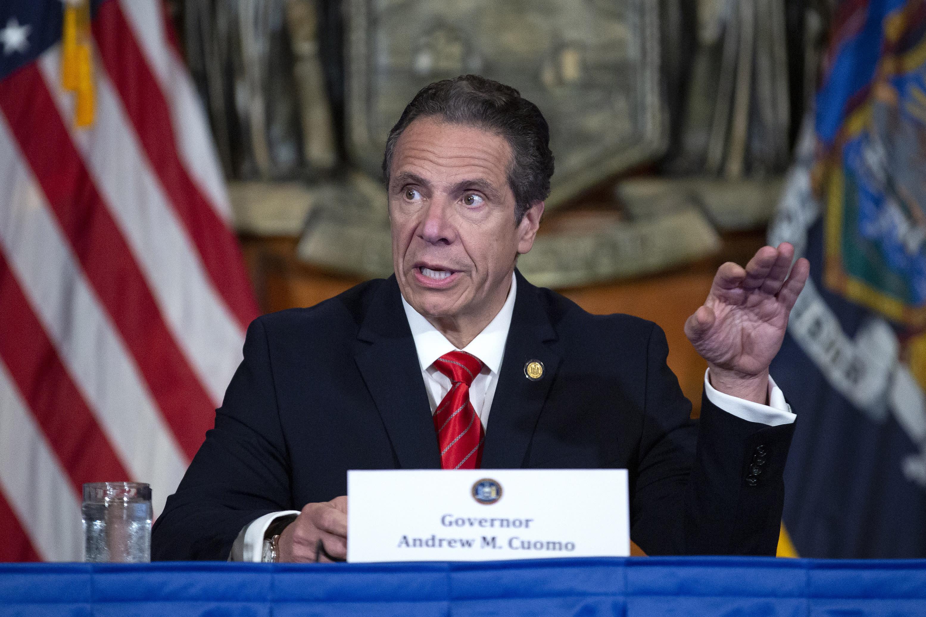 NY Gov. Cuomo rebukes Trump on 'bailouts' for Democratic states