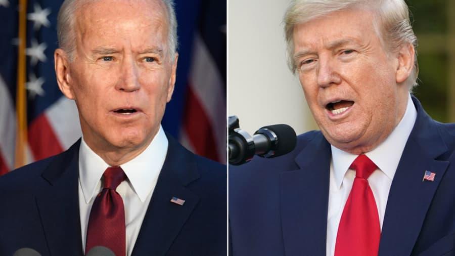 Hai chiến tuyến Trump - Biden