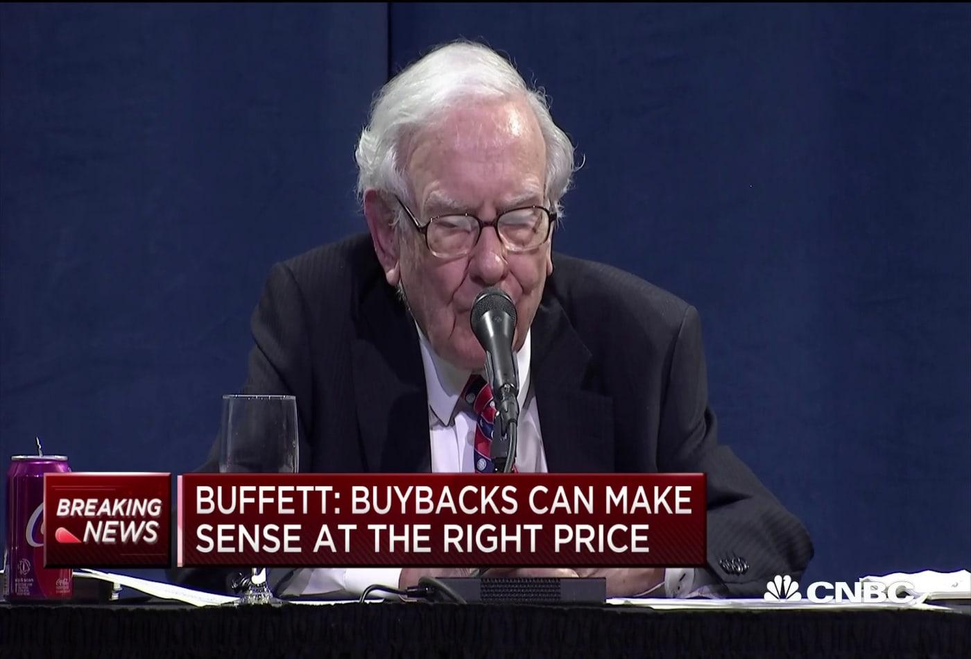 Warren Buffett: Buybacks can make sense at the right price