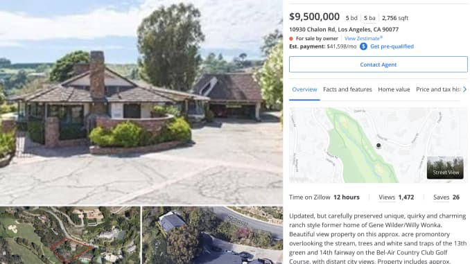 One of Elon Musk's home as listed on Zillow