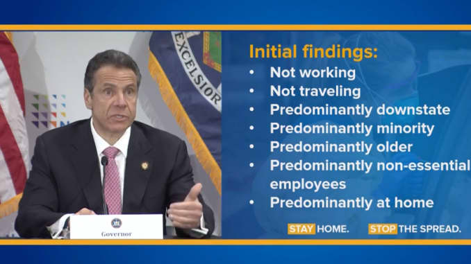 Governor Cuomo details initial findings from the coronavirus pandemic during a press briefing on May 6th, 2020.